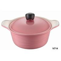 Neva N714 Sweet Ceramica Pembe 24 Cm Derin Tencere