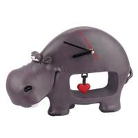 Hipopotam Figürlü Saat