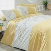 Home Stil Home Nakışlı Nevresim Takımı - Bahar Sarı