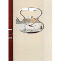 Çay Saati Üstten Kulplu Klasik Demlik Saat Dekoratif Ayna