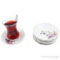Gerok Kasımpatı 6 Adet Porselen Çay Tabağı