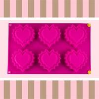 Bluezen Kalpli Silikon Cupcake Kalıbı 6'Lı Thn41071