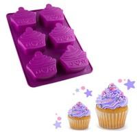 Bluezen Muffin Şeklinde Silikon Cupcake Kalıbı 6'Lı Thn46401