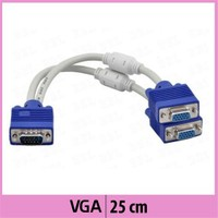 Ti-Mesh Çoklayıcı Vga Kablosu -Mavi Başlıklı - 25Cm