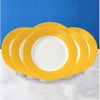 Evino 6'Lı Porselen Servis Tabağı - Sarı