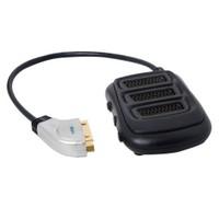 S-Link Slx-Sc35 Scart To 3 Scart Çoklayıcı Metal Kasa Altın Uçlu Kablo