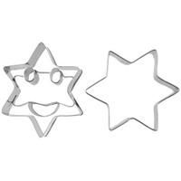 Joy Kitchen 2 'Li Yıldız Şekilli Gülen Yüzlü Kurabiye Kalıbı