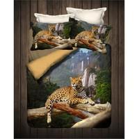 İyi Geceler İstanbul 3D Exclusive Saten Çift Kişilik Nevresim Takımı Safari