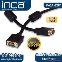 Inca IVGA-20T VGA TO VGA 20M Altın Uçlu Bakır Kablo