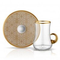 Koleksiyon Dervish Kulplu Osmanlı Çay Seti 6Lı