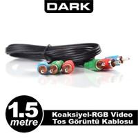 Dark 1.5 Metre Koaksiyel Ypbpr RGB Video Tos Görüntü Kablosu (DK-CB-VRGBL150)