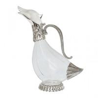 LoveQ Gümüş Lüx Cam Sürahi