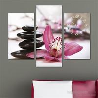 Tabloshop - Peace Flower Tablo Saat - 81X60cm - Çerçeve Hediye