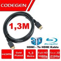 Codegen (CPS13)1,3 MT Altın Kaplama Uçlu HDMI Kablo