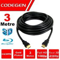 Codegen (CPS30) 3 MT Altın Kaplama Uçlu HDMI Kablo
