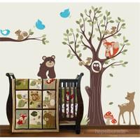 Bestasticker Renkli Ağaç Ve Hayvanlar Sticker