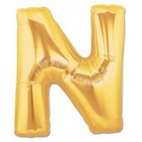 N Harf Gold Folyo Balon