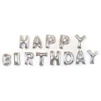 Happy Birthday Harf Folyo + Balon Pompası