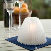 Glow El Yapımı Cam Mumluk Beyaz