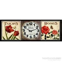 Ahşap Retro Style Duvar Saati 100X40x5cm