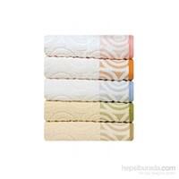 Maisonette Swirl Havlu Beyaz-Turuncu 50 x 90 cm Tekli