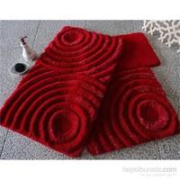 Alessia Akrilik Klozet Takımı 3`Lü Wave Kırmızı