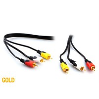 S-Link Sl-Rca10 3Rca To 3Rca 10M Gold Kablo