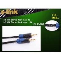 S-link SLX-962 5m Gold Kılıflı Stereo Ses Kablosu