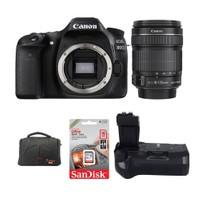 Canon Eos 80D + 18-135 Lens + Battery Grip + Hafıza Kartı + Çanta