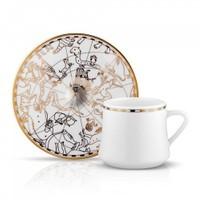 Koleksiyon Sufi İrismano Çay Fincan Seti 6Lı Altın