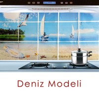 BlueZen Mutfaklar İçin Duvar Etiketleri Kitchen Sheet-Deniz