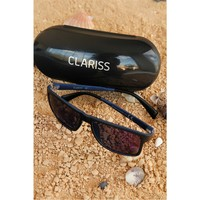 Morvizyon Clariss Marka Siyah Çerçeveli Renkli Cam Tasarımlı Güneş Gözlük Modeli