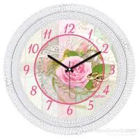 Cadran 1108-47 Dekoratif Vintage Duvar Saati Çatlak Desen İhtiyacınız Olan Tek Şey Sevgi