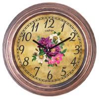 Cadran Dekoratif Vintage Bakır Duvar Saati Çiçekler