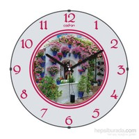 Cadran 110-5 Bombeli Cam Duvar Saati Saksılar