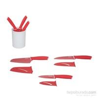 Tantitoni Kırmızı Üçlü Bıçak Seti