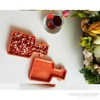 Te Home-Wooden-Şişe Kahvaltı Tabağı - Çerezlik