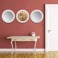 Cadran Home 2'Li Ayna Ve Duvar Saati Set Chas45