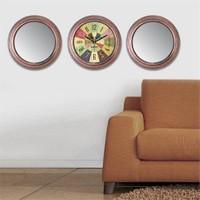 Cadran Home 2'Li Ayna Ve Duvar Saati Set Chas5