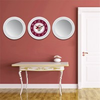 Cadran Home 2'Li Ayna Ve Duvar Saati Set Chas50