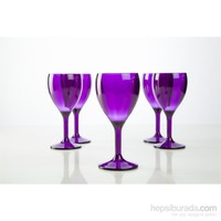 Plabar Kırılmaz Şarap Bardağı (Mor) 12Li