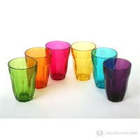 Paşabahçe Renkli 6.Lı Su Bardağı