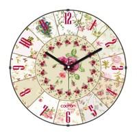 Cadran Luxury Vintage Bombeli Cam Duvar Saati Çiçek Dilimleri-2