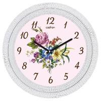 Cadran Dekoratif Vintage Çatlak Desen Duvar Saati Çiçekler-2