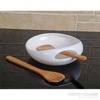 Fidex Home Porselen Servis Tabağı -Kaşıklı