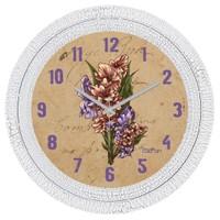 Cadran Dekoratif Vintage Çatlak Desen Duvar Saati Retro Çiçekler-2