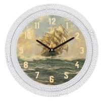 Cadran Dekoratif Vintage Çatlak Desen Duvar Saati Gemi-2