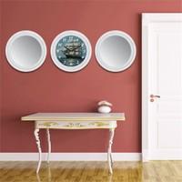 Cadran Home 2'Li Ayna Ve Duvar Saati Set Chas11