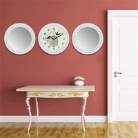 Cadran Home 2'Li Ayna Ve Duvar Saati Set Chas18