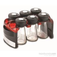 Korkmaz A 621-01 Aroma 6 ' Lı Baharat Seti Kırmızı